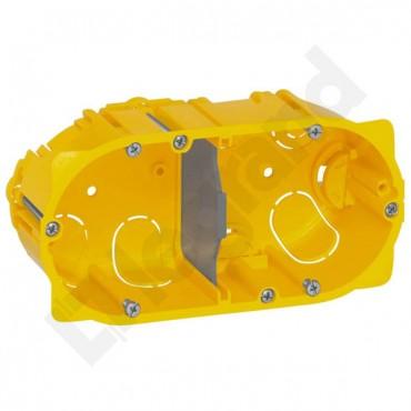 Puszka 60mm p/t regips 60mm 142x 50mm żółty Batibox 080052