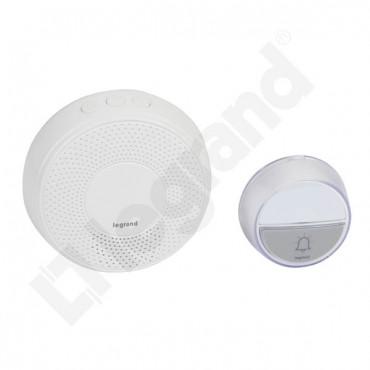 Dzwonek bezprzewodowy 100m 230V Comfort (zestaw odbiornik + nadajnik) biały 094254