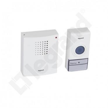 Dzwonek bezprzewodowy 50m Essential (zestaw odbiornik + nadajnik) biały 094250