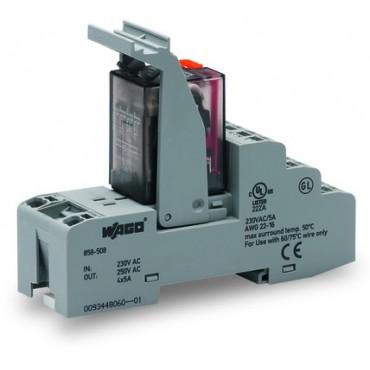 Przekaźnik przemysłowy 230V AC 5A 4P na podstawce 858-508