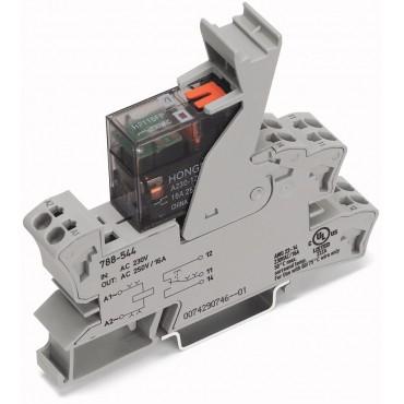 Podstawka z przekaźnikiem 230V AC z ręcznym pobudzeniem 788-544