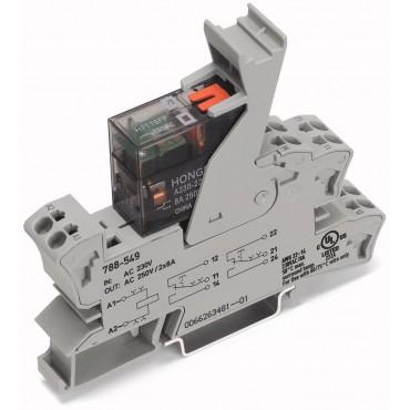 Podstawka z przekaźnikiem 230V AC z ręcznym pobudzeniem 788-549
