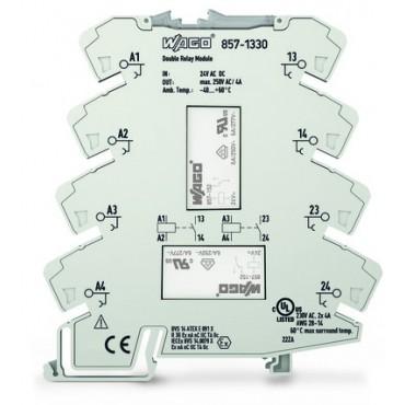 Przekaźnik podwójny 24V/250V AC/4A 857-1330