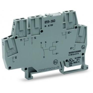 Złączka z przekaźnikiem minaturowym 230V AC 1p 859-359