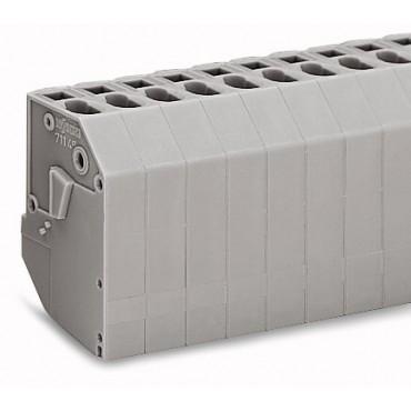Listwa do transformatorów 4mm2 2-torowa szara 711-132