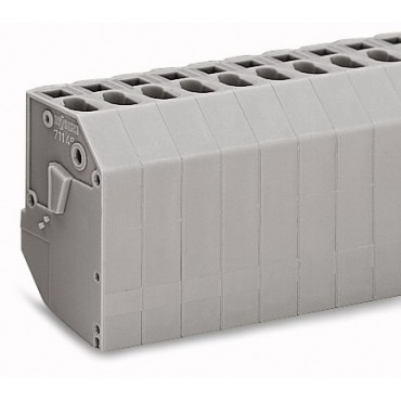Listwa do transformatorów 4mm2 2-torowa szara 711-152