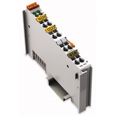 Moduł wyjść przekaźnikowych programowalny 2-kanałowy 2Z jasnoszary 750-513