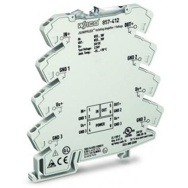 Przetwornik separacyjny JUMPFLEX ze wzmocnieniem I/I,U/U 857-412