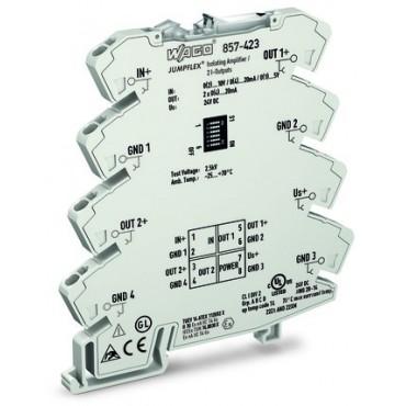 Przetwornik separacyjny JUMPFLEX ze wzmocnieniem i podwójnym wyjściem 857-423
