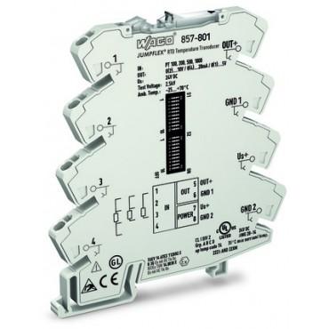 Przetwornik pomiarowy JUMPFLEX temperaturowy dla Pt i rezystancji 857-801