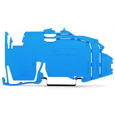 Wspornik szyny zbiorczej bez funkcji blokady końcowej do montażu zatrzaskowego na TS 35 niebieski 2009-304 /25szt./