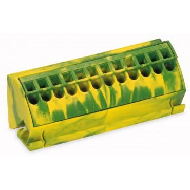 Blok potencjałowy PE 4mm2 żółto-zielony 812-100
