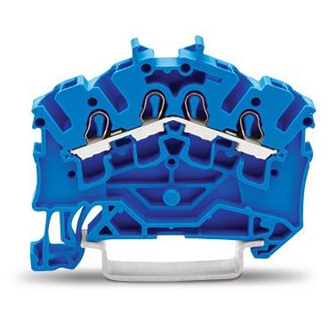 Złączka szynowa 4-przewodowa 2,5mm2 niebieska 2002-6404 TOPJOBS