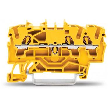 Złączka szynowa 3-przewodowa 2,5mm2 żółta TOPJOBS 2002-1306