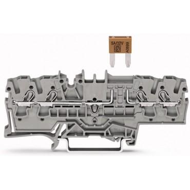 Złączka 4-przewodowa 2,5mm2 bezpiecznikowa szara TOPJOBS 2002-1881