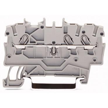 Złączka szynowa 3-przewodowa 1,0mm2 szara TOPJOBS 2000-1301