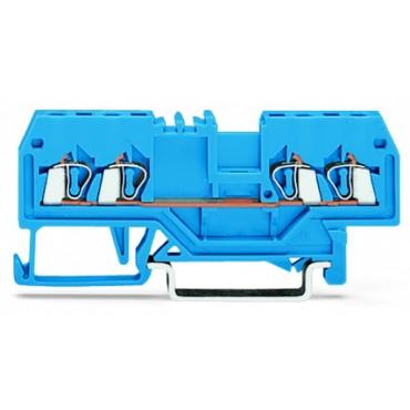 Złączka 4-przewodowa 1,5mm2 niebieska 279-834