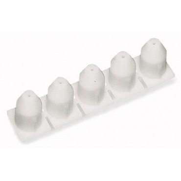 Blokada izolacji 0,08-0,2mm2 biała 281-470 /25szt./