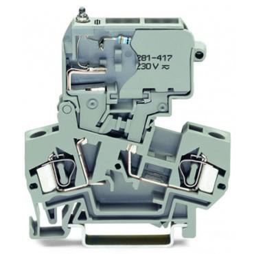 Złączka bezpiecznikowa 4mm2 szara 281-611/281-418