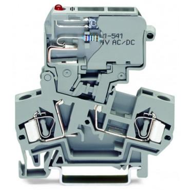 Złączka bezpiecznikowa 4mm2 szara 281-612/281-542