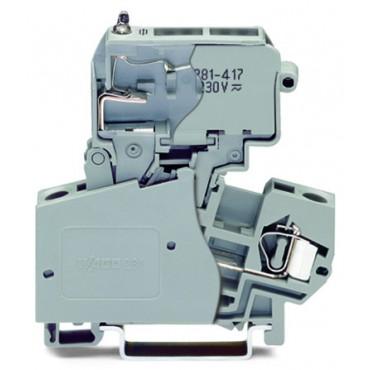 Złączka bezpiecznikowa 4mm2 szara 281-623/281-417