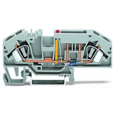 Złączka do bezpieczników samochodowych 24V 6mm2 szara 282-698/281-413