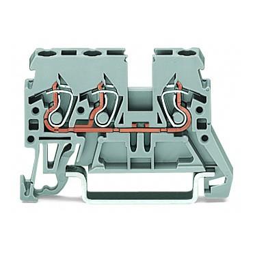 Złączka 3-przewodowa 2,5mm2 szara 870-681