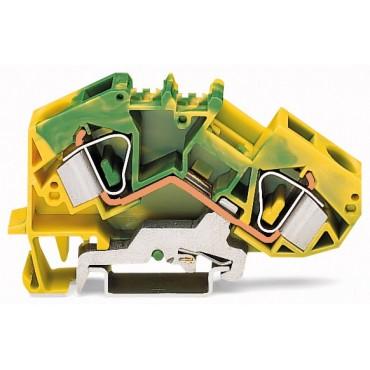 Złączka szynowa PE 2-przewodowa 16mm2 żółto-zielona 783-607 TOPJOBS