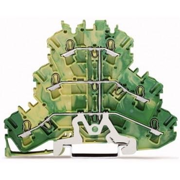 Złączka szynowa 3-piętrowa 2,5mm2 żółto-zielona 2002-3207 TOPJOBS