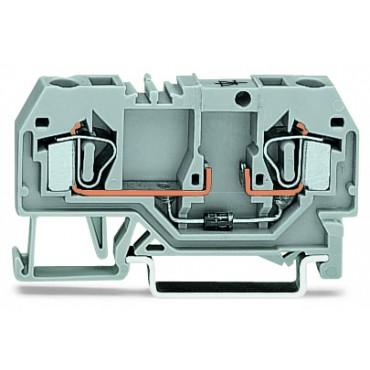 Złączka diodowa 2-przewodowa 4mm2 szara 281-915/281-411