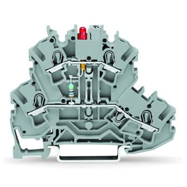 Złączka 2-piętrowa 2,5mm2 diodowa szara TOPJOBS 2002-2221/1000-413