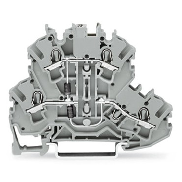Złączka 2-piętrowa 2,5mm2 diodowa szara TOPJOBS 2002-2214/1000-492