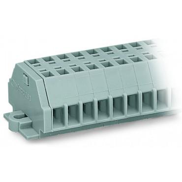 Listwa zaciskowa 2-przewodowa 1,5mm2 4-torowa szara stopki montażowe 260-154