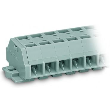 Listwa zaciskowa 4-przewodowa 1,5mm2 10-torowa szara stopki montażowe 260-260