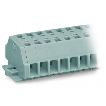 Listwa zaciskowa 2-przewodowa 2,5mm2 9-torowa szara stopki montażowe 261-159