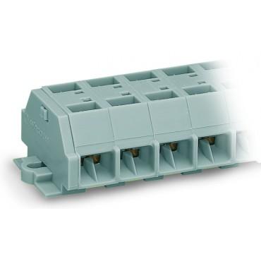 Listwa zaciskowa 4-przewodowa 2,5mm2 10-torowa szara stopki montażowe 261-260