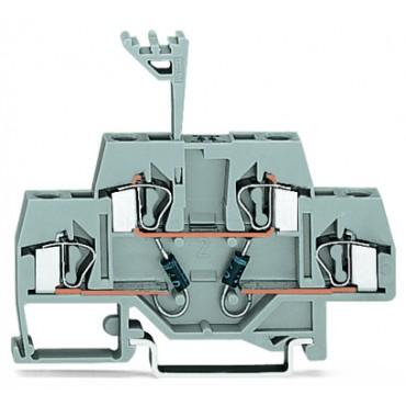 Dwupiętrowa złączka diodowa 4mm2 281-635/281-489