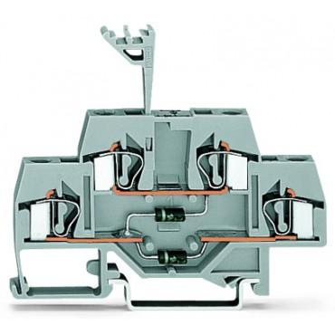 Dwupiętrowa złączka diodowa 4mm2 281-635/281-491