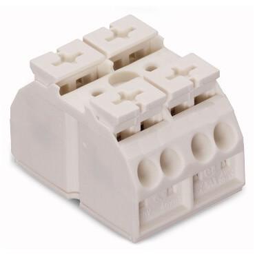 Blok zasilający 2-biegunowy biały 862-632