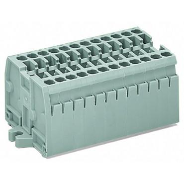 Listwa zaciskowa 2-przewodowa 2,5mm2 5-torowa jasnoszara mocowanie śrubowe 869-235