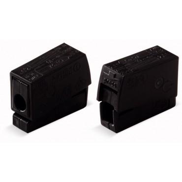 Szybkozłączka oświetleniowa 2,5mm2 wykonanie dla podwyższonej temperatury 120st.C czarna 224-104 /100szt./