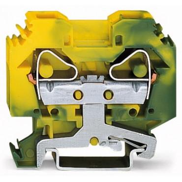 Złączka szynowa 2-przewodowa 16mm2 żółto-zielona 283-107