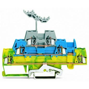 Złączka trzypiętrowa PE / L / L 2,5mm2 zolto-zielona / niebieska / szara 280-547