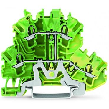 Złączka szynowa ochronna 2,5mm2 żółto-zielona 2002-2207 TOPJOBS