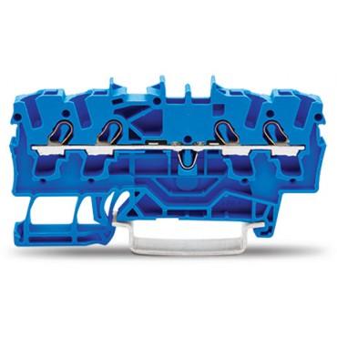Złączka szynowa 4-przewodowa 2,5mm2 niebieska 2002-1404 TOPJOBS