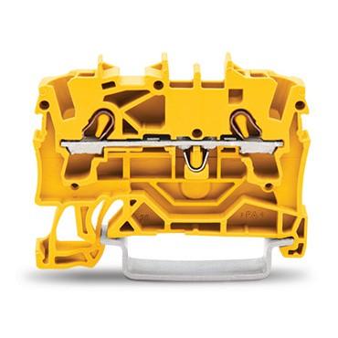 Złączka szynowa 2-przewodowa 2,5mm2 żółta 2002-1206 TOPJOBS