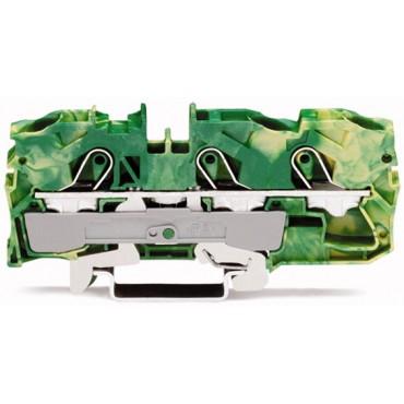 Złączka szynowa ochronna 3-przewodowa 10mm2 żółto-zielona 2010-1307 TOPJOBS