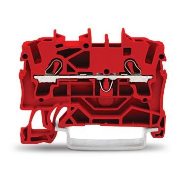 Złączka szynowa 2-przewodowa 2,5mm2 czerwona 2002-1203 TOPJOBS