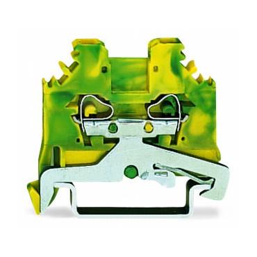 Złączka szynowa ochronna 2,5mm2 żółto-zielona 280-107