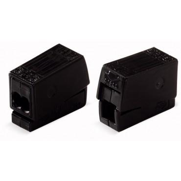 Złączka oświetleniowa 2-przewodowa 2,5mm2 wykonanie dla podwyższonej temperatury 120st.C czarna 224-114 /100szt./